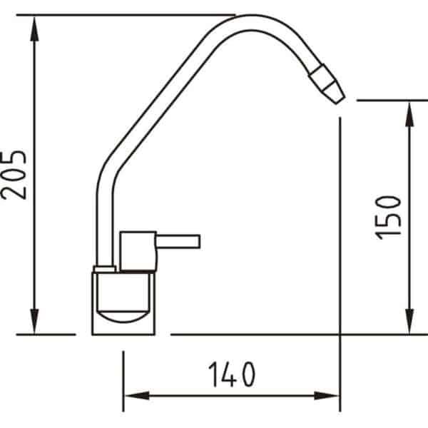 Grifo de cocina para agua tratada Caiman Elegance - Clever