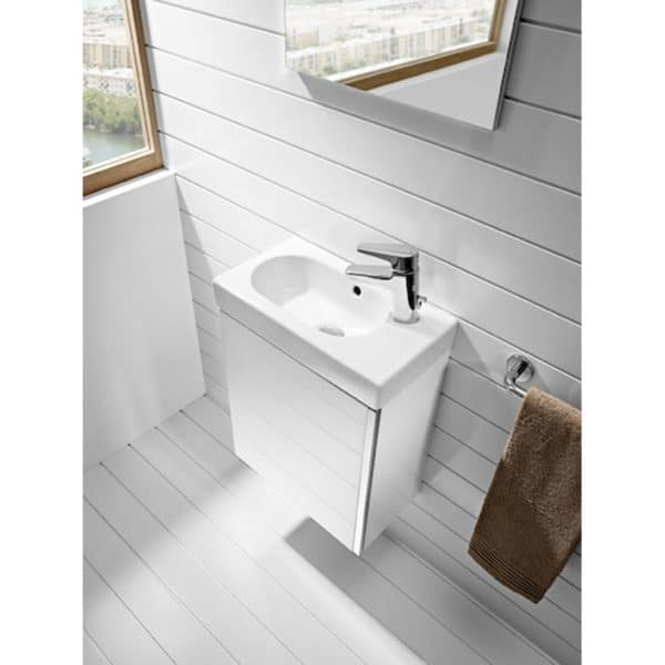 Conjunto de mueble + lavabo + espejo camerino - Mini - Roca