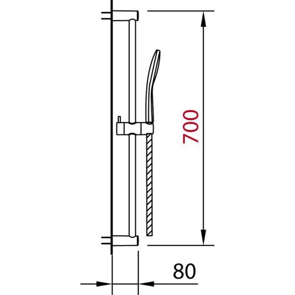 Conjunto barra de ducha - Clever - City Air