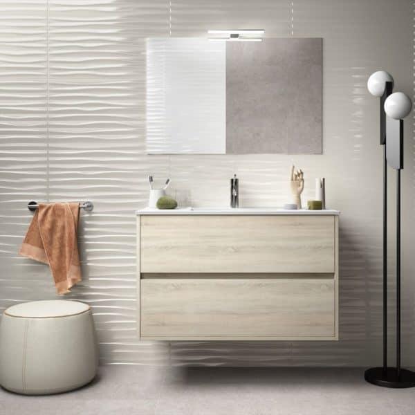 Conjunto completo con lavabo de porcelana - Noja - Salgar