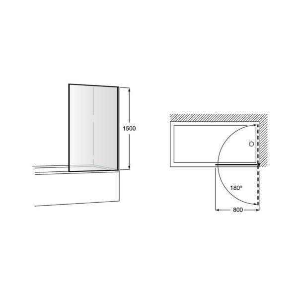 Frontal bañera de 1 hoja batiente - Victoria - Roca