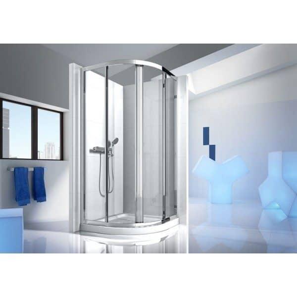 Mampara de ducha semicircular 2Correderas y 2fijas - Victoria - ROCA