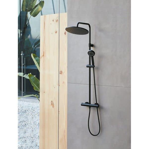Columna de ducha termostática negra - Indo - Sanycces