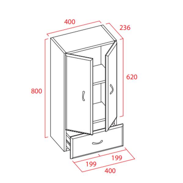 Mueble para colgar de 40cm - Torvisco Group - Cedeira