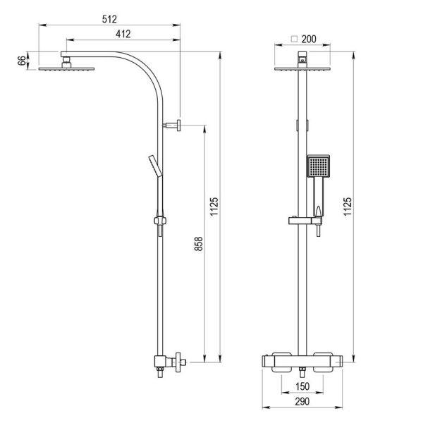 Columna termostatica - Nitro plus - Galindo