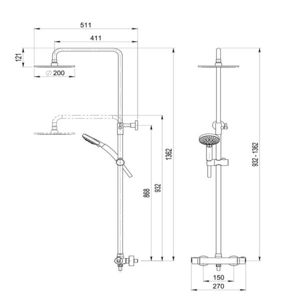 Columna termostática - Pysa - Galindo