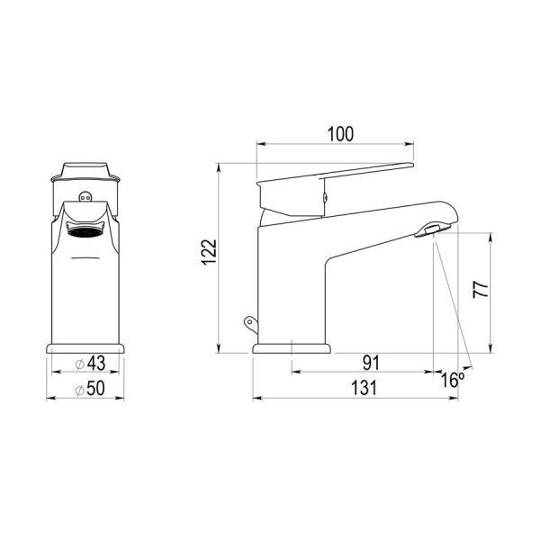 Grifo de lavabo - Albos - Galindo