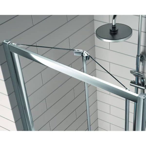 Mampara frente de ducha puerta plegable - 300 - Kassandra