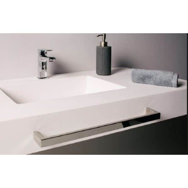 Encimera con toallero metalico - Gel coat - Saona - Doccia Group