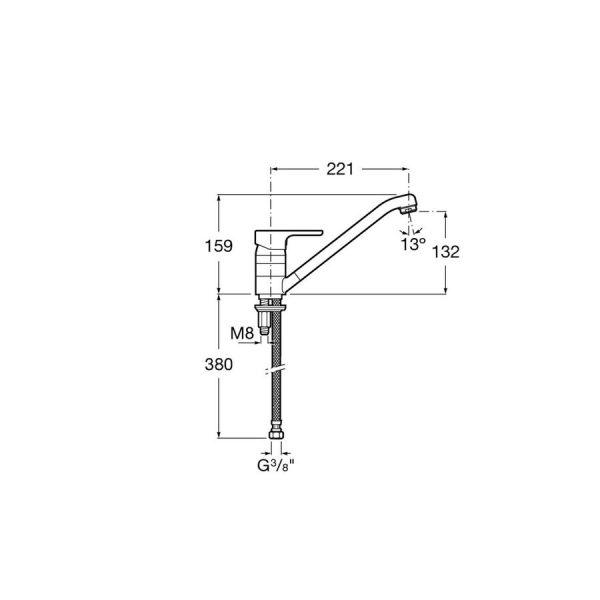 Mezclador para cocina L20 XL -Roca