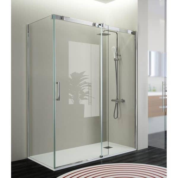 Mampara frente de ducha fijo + puerta corredera - Triana - Kassandra