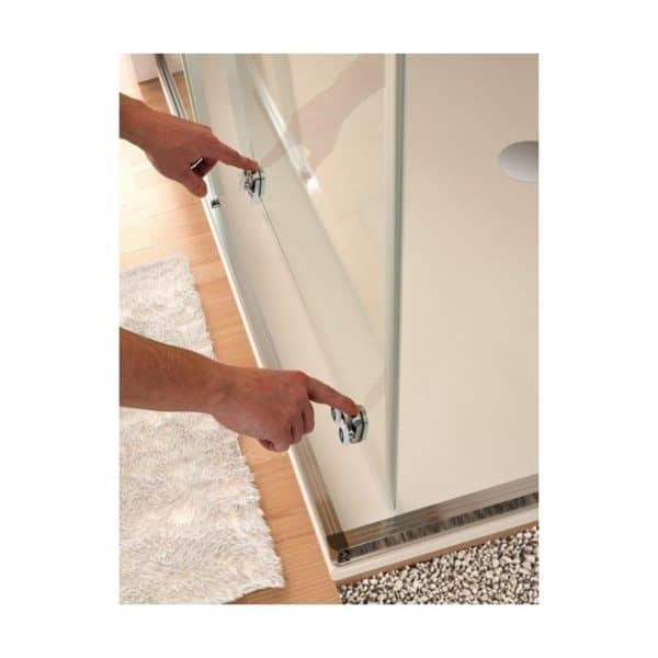 Mampara frente de ducha fijo + puerta corredera - Kassandra - bella