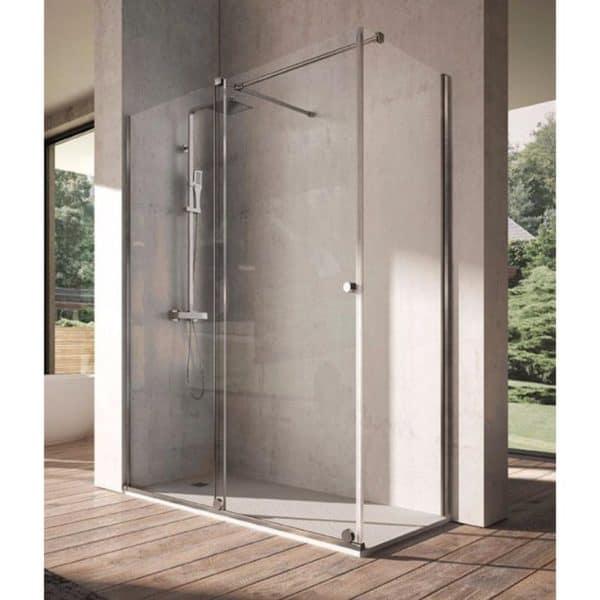 Mampara frente de ducha fijo + puerta corredera - Volare - Kassandra