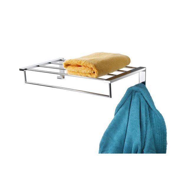 Estanteria de pared con perchas N.20 - Baño Diseño - Mia