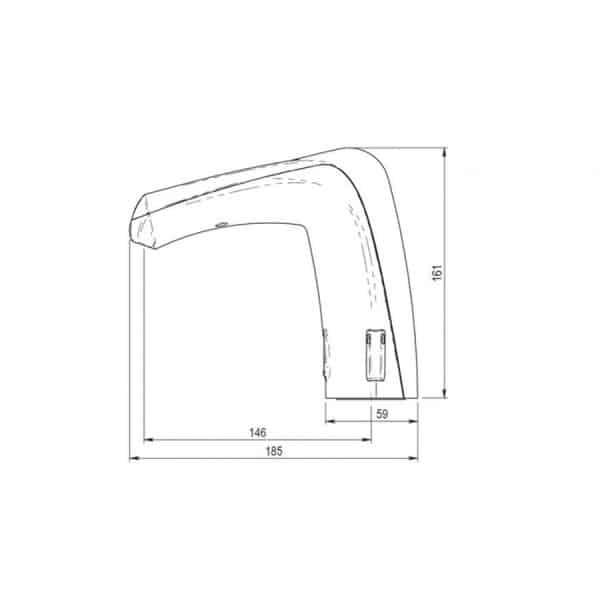 Grifo electrónico para lavabo mezclador - Domo Sensia LM - Presto Ibérica