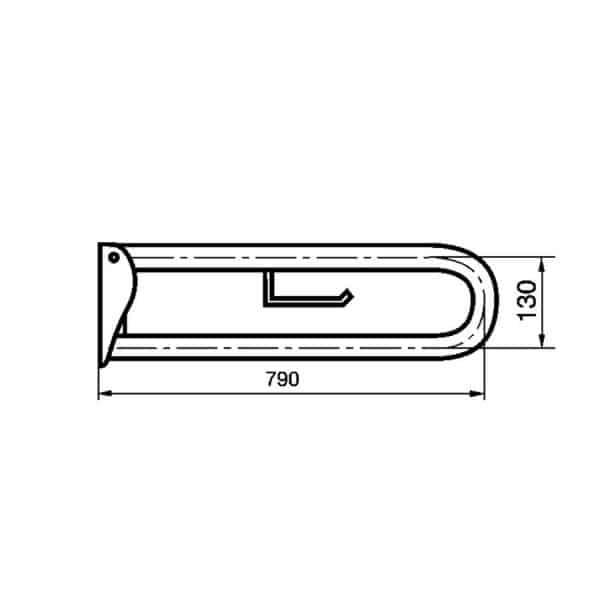 Barra de apoyo abatible - Prestobar inox 170 - PrestoEquip