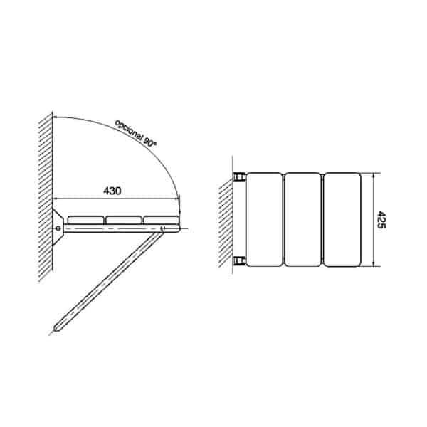 Asiento de ducha - Prestobar Inox 210 - PrestoEquip