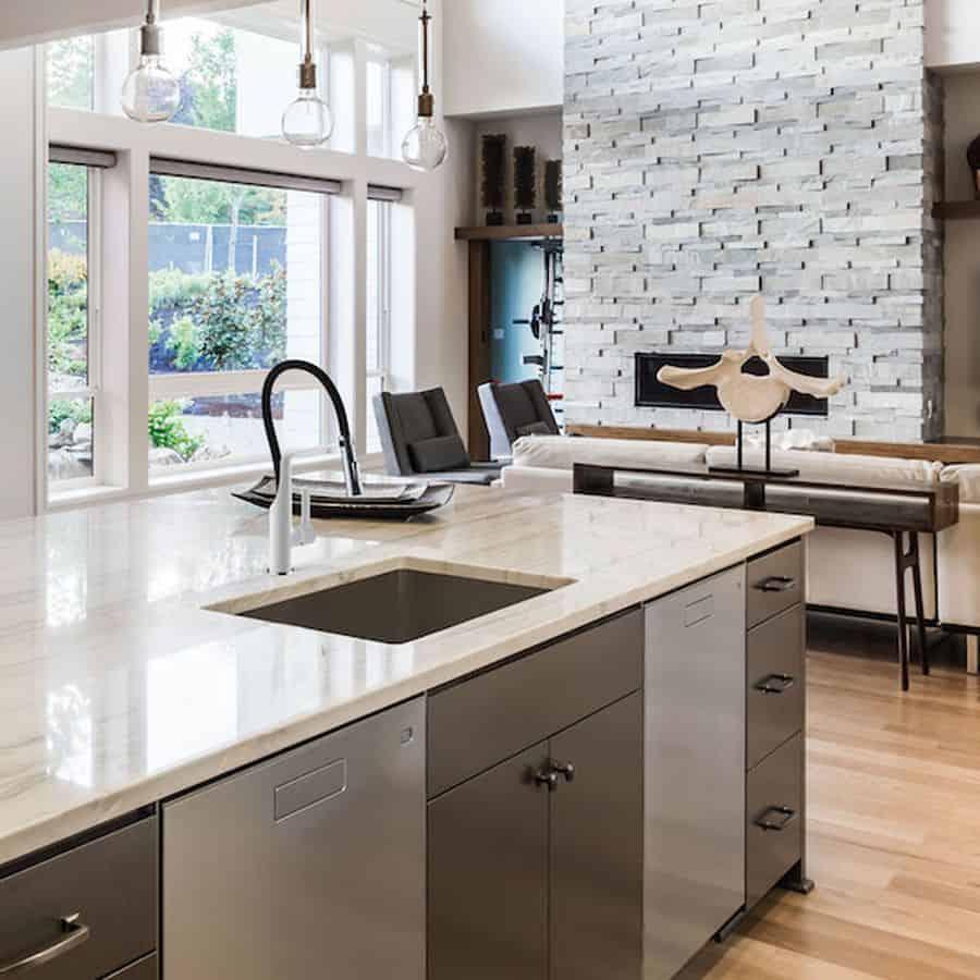 Grifo de cocina color banium - Griferia cocina blanco ...