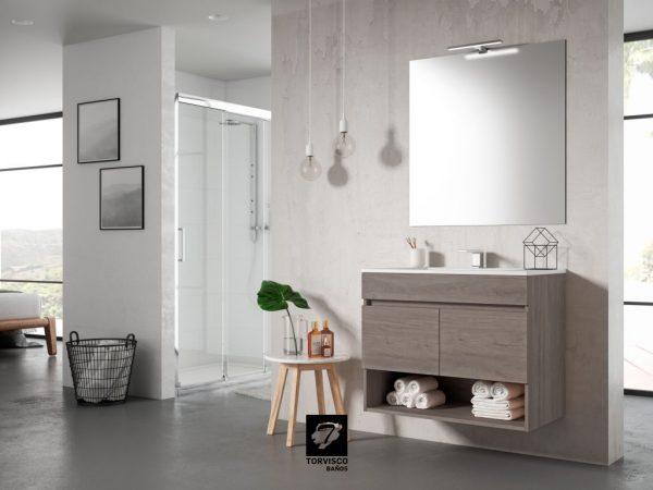 Mueble suspendido y lavabo - Torvisco Group - Sete