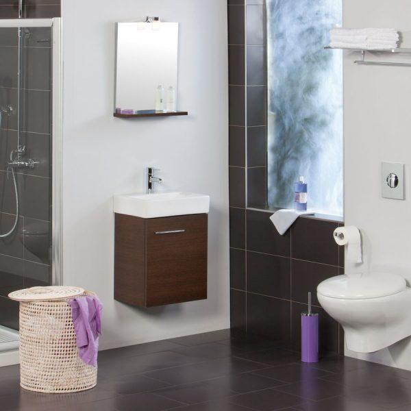 Conjunto (mueble lavabo y espejo) - Gamma - Smart