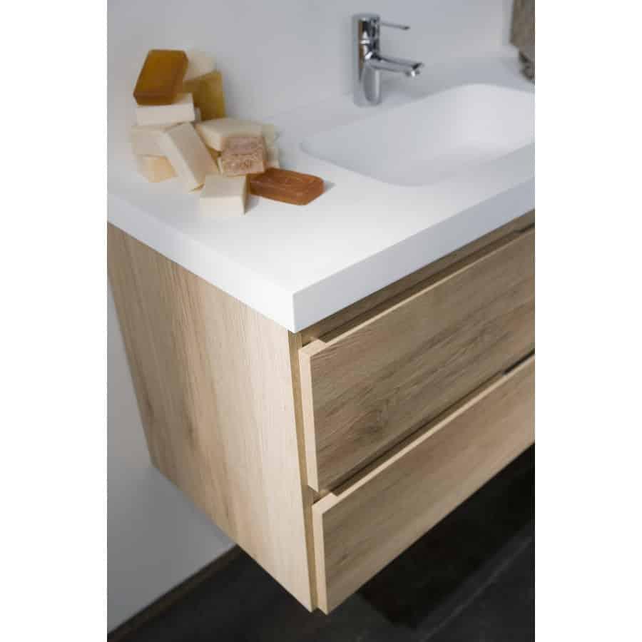 Mueble de lavabo 2 cajones banium for Cajones para muebles