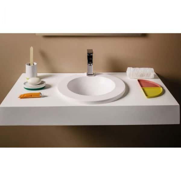 Encimera con lavabo encastrado lares - Gel Coat - Balavu - Doccia Group