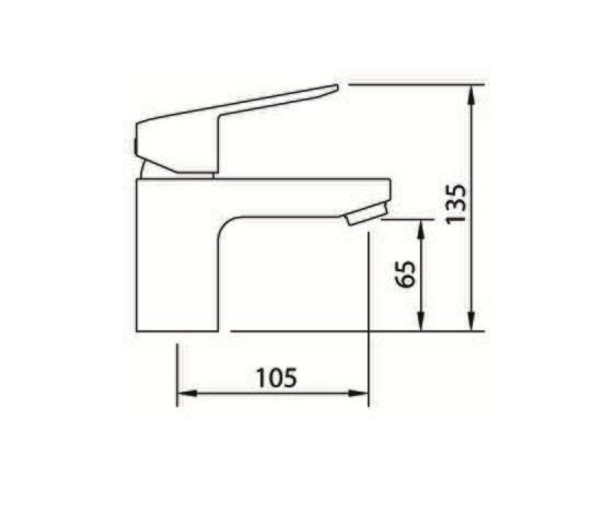 Grifo de lavabo de 65 mm - Clever - Xtreme