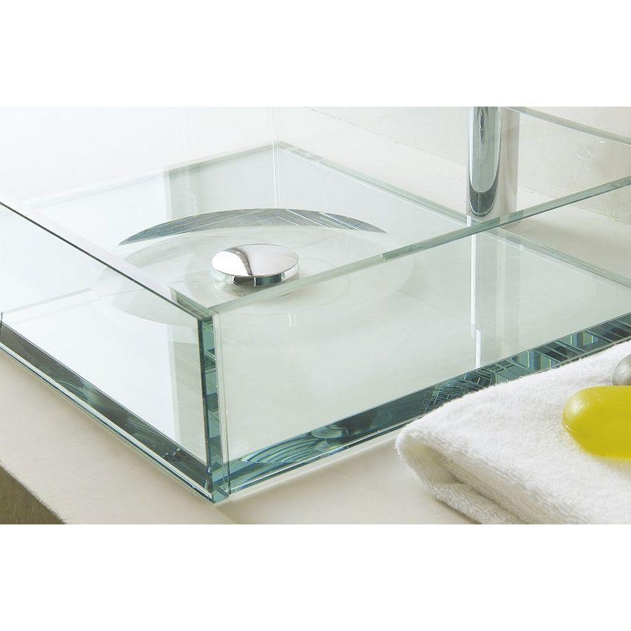 Lavabo sobre encimera de banium - Encimera lavabo cristal ...
