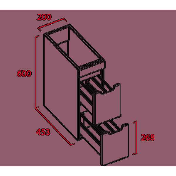 Modulo de 2 cajones - Torvisco Group - Loa