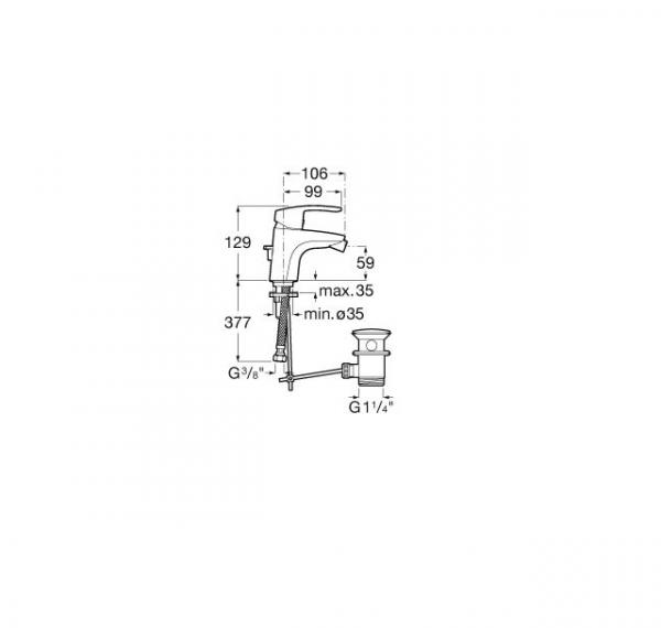 Mezclador monomando para bide - Roca - Monodin-N