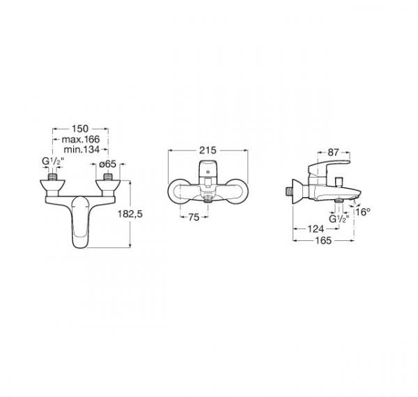 Mezclador exterior para baño-ducha - Roca - Monodin-N