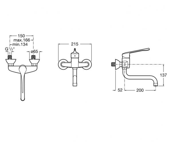Mezclador monomando para lavabo con caño inferior giratorio - Roca - Victoria Pro