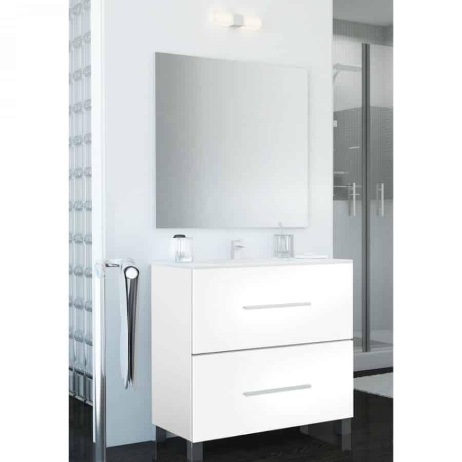 Conjunto mueble espejo banium for Conjunto mueble lavabo