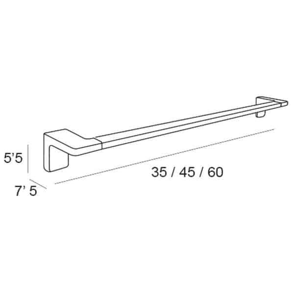 Toallero barra 45 cm - Nicole - Manillons Torrent