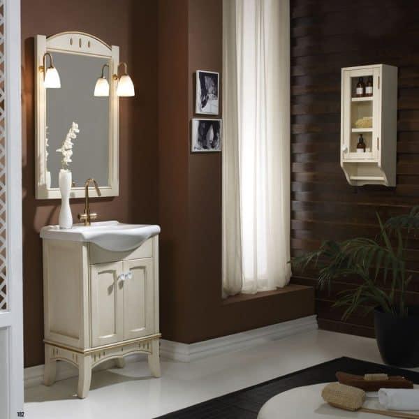 Conjunto mueble de baño decoracion oro con lavabo integral Nº6 - Creaciones del Espino - Bocaccio - Forever