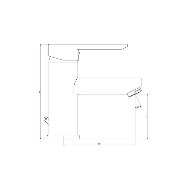 Grifo de lavabo - Karim due - Galindo