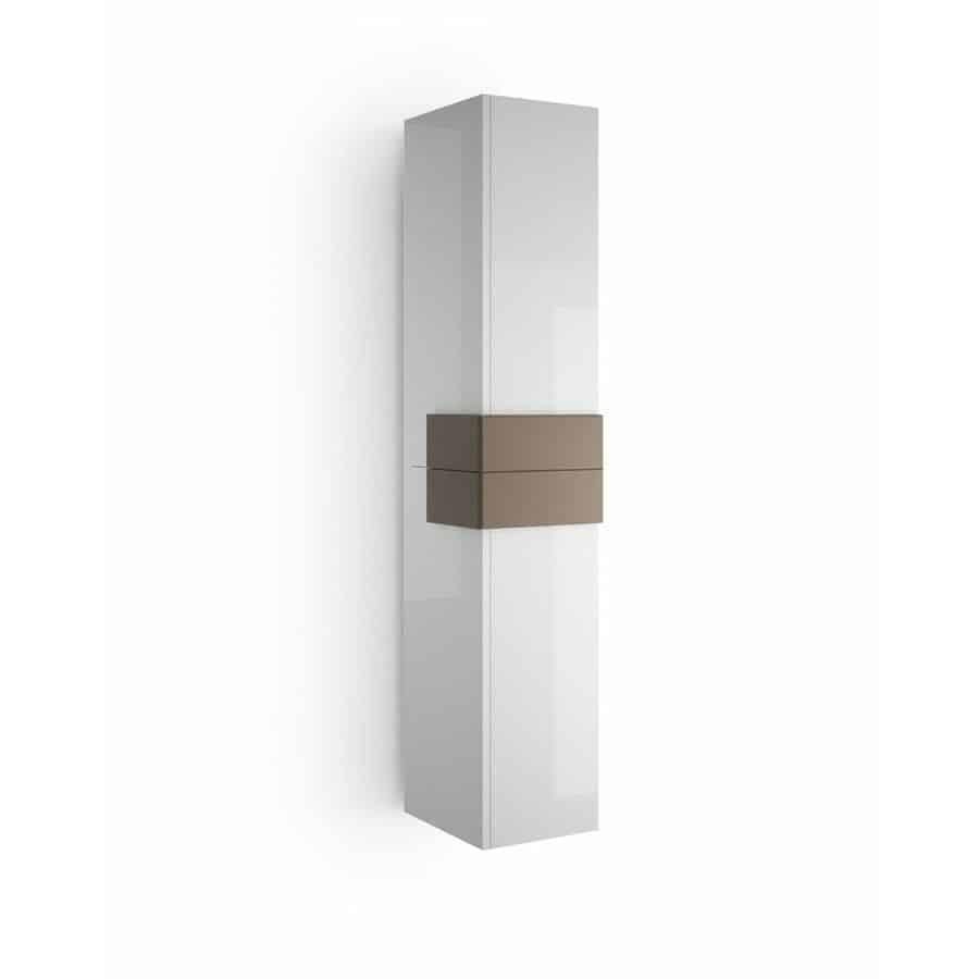 Mueble auxiliar blanco banium for Mueble auxiliar lavabo