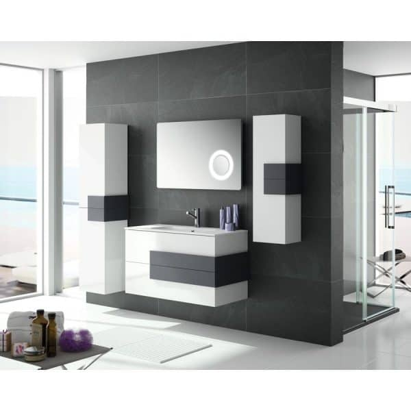Mueble suspendido con lavabo -  Cronos - Salgar