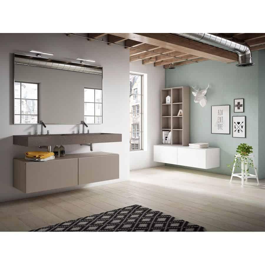 Conjunto mueble de ba o con lavabo encimera piedra - Banos con encimera ...