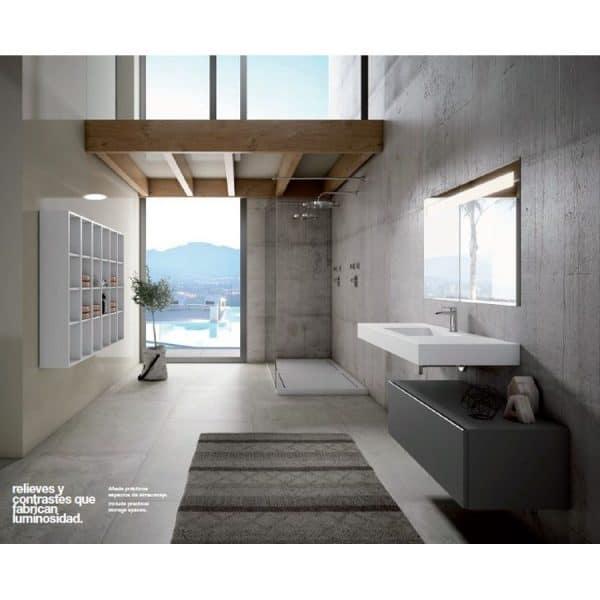 Conjunto de baño mueble, lavabo y espejo - Element.01- Visobath