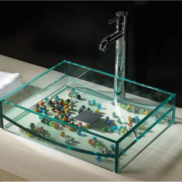 Lavabo de cristal gondola - cazaña