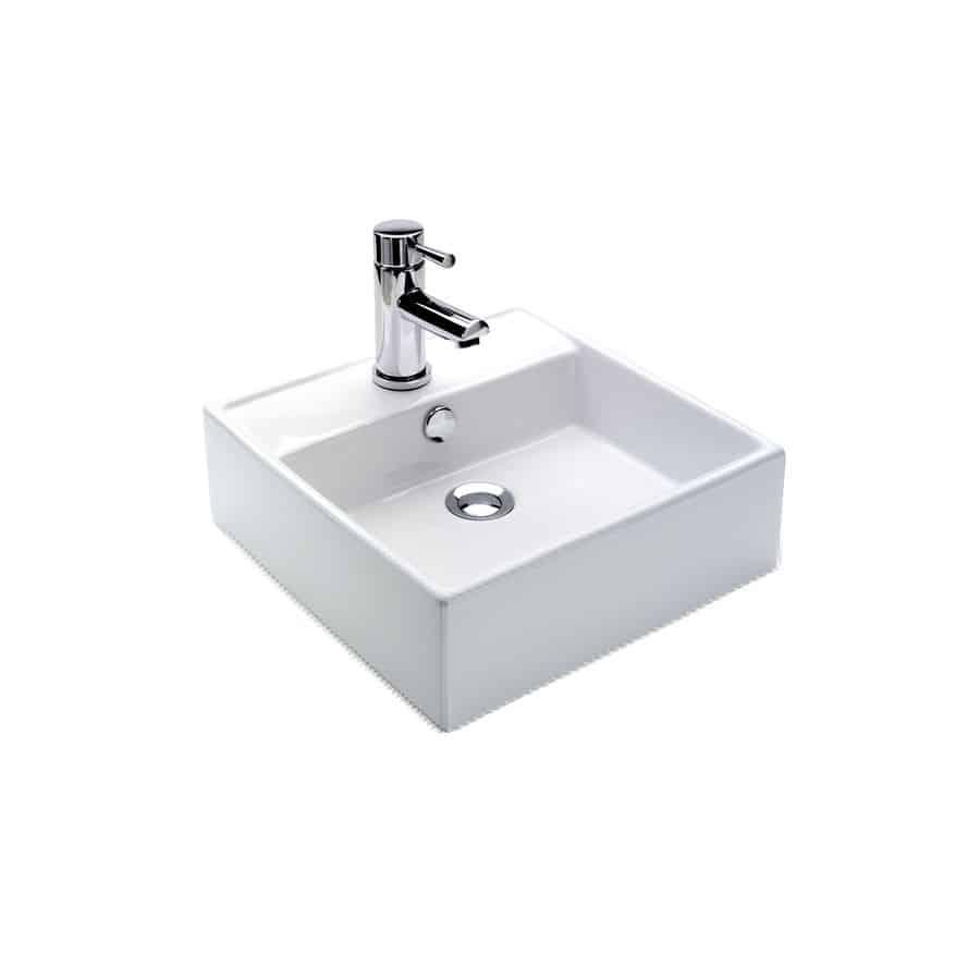 Lavabo sobre encimera pequeo cool lavabo ovalado de for Lavabos cuadrados sobre encimera