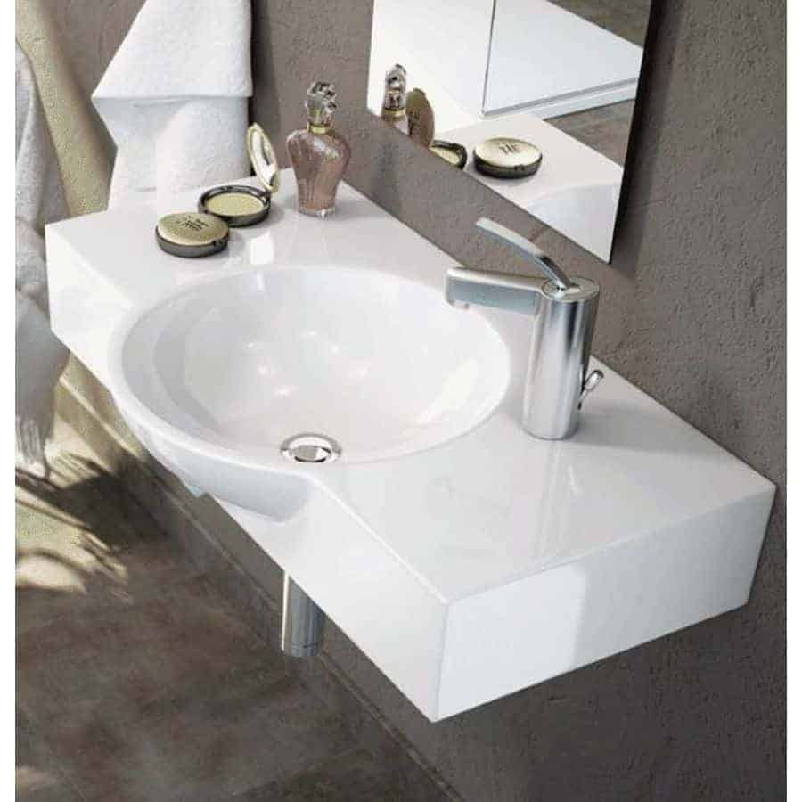 Lavabo sobre encimera banium - Altura de lavabo suspendido ...