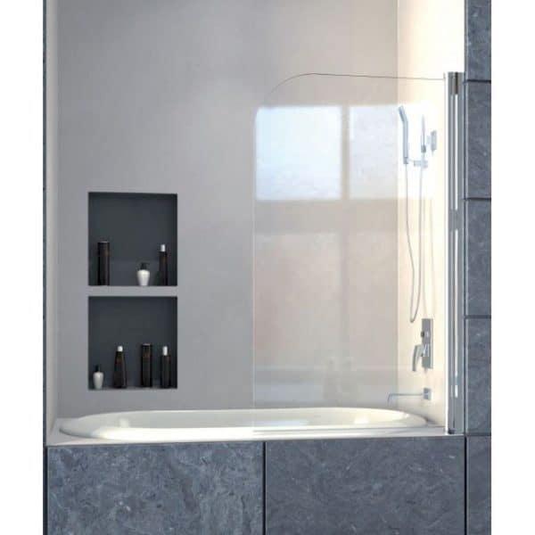 Mampara de baño frontal con una hoja autorretornable punta roma - Mamparas Doccia - Bombay