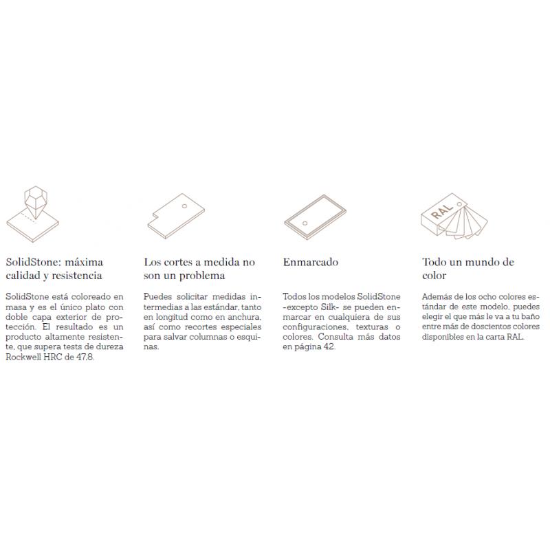 Plato de Ducha SolidStone Natural Liso - Baños 10