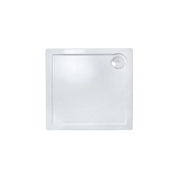 Plato de ducha cuadrado porta 80x80 cm relieve