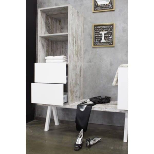 Mueble Kando h120 semi-columna combinada amc2ch