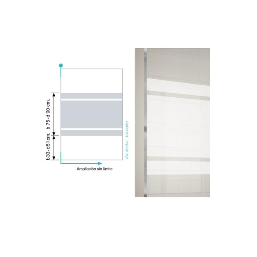 Mampara frente de ducha puerta plegable - Kassandra - 300