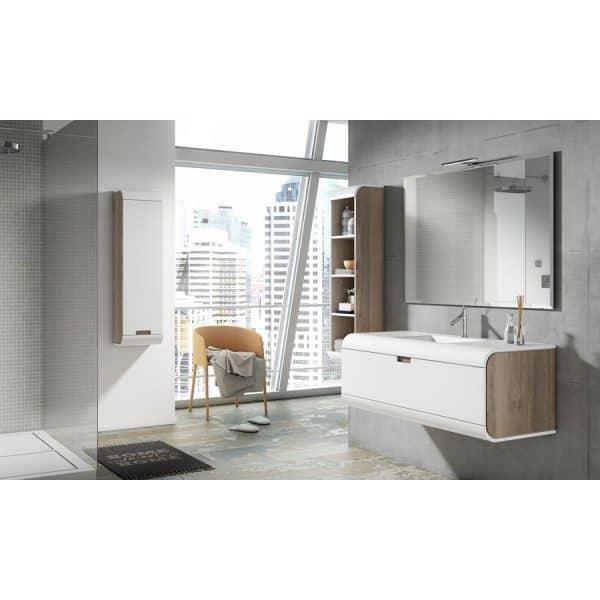 Conjunto mueble de baño con lavabo solid - Sunne.01 - Visobath