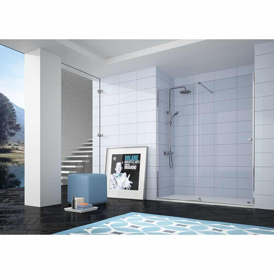 Frente de ducha fijo + puerta coredera - mampara volare- kassandra